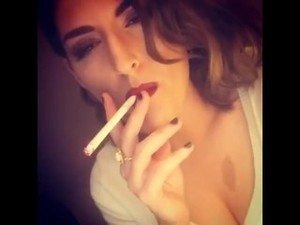 Sluty milf smoking