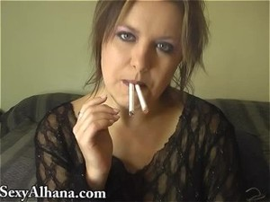 Dual Cigarette Smoking Fetish - ALHANA..