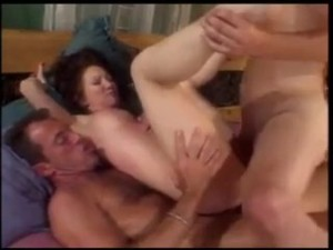 Cute MILF with Luscious Tits gets DP'ed