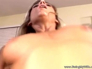 Horny Swinger Blonde Wife Used For Sex